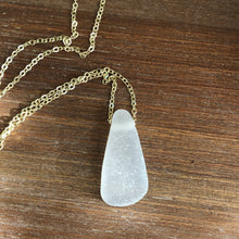 Load image into Gallery viewer, Beautiful White Floating Sea Glass Pendant