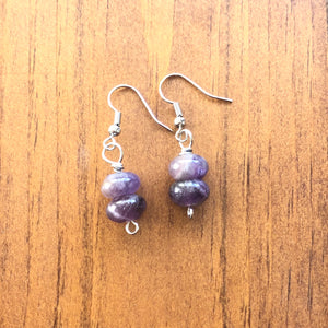 Beautiful Purple Amethyst Earrings