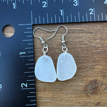 Load image into Gallery viewer, Beautifully Simple White Genuine Sea Glass Earrings