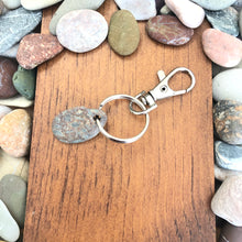 Load image into Gallery viewer, Genuine Beach Stone Keychain