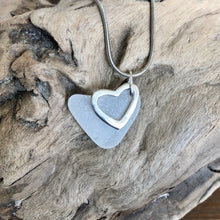 Load image into Gallery viewer, Natural Heart Shaped Sea Glass with Heart Charm
