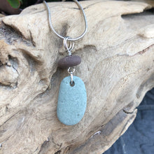 Load image into Gallery viewer, Natural Beach Stone Necklace