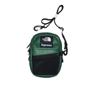 supreme the north face shoulder bag dark green