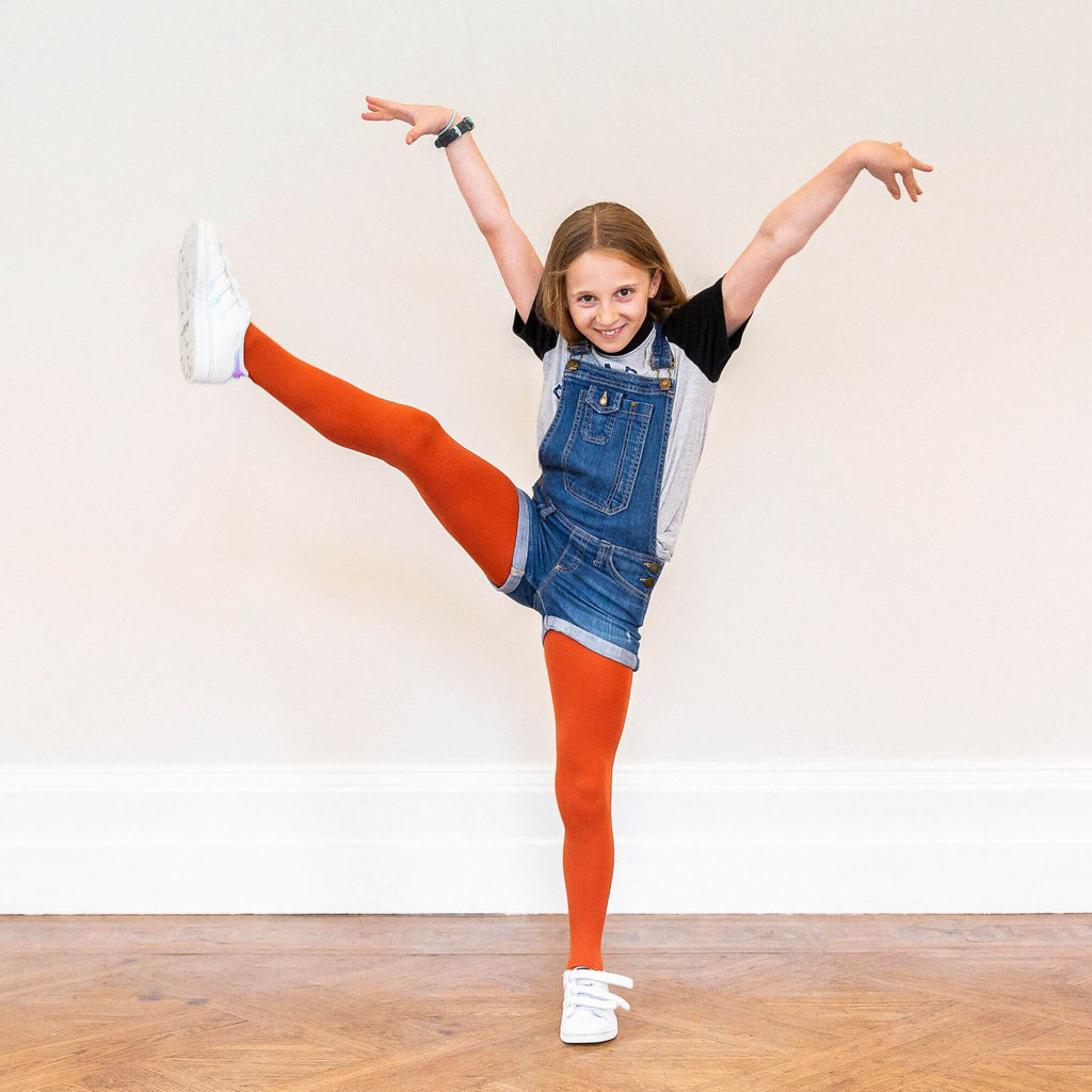 Tights - Kids Tights - Pumpkin Spice