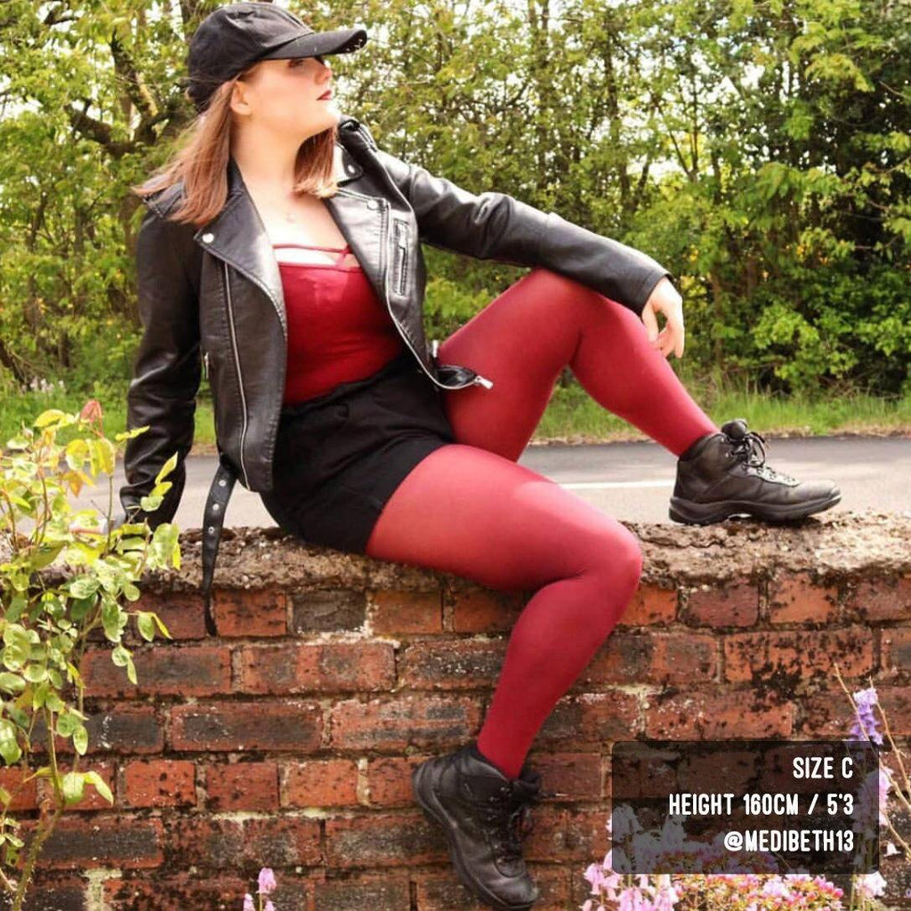 Tights - Opaque Tights - Burgundy