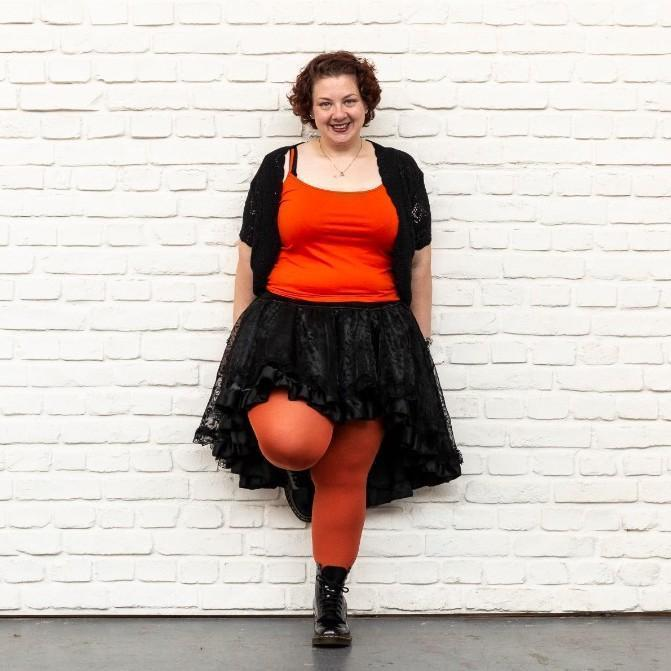Tights - Opaque Tights - Pumpkin Spice
