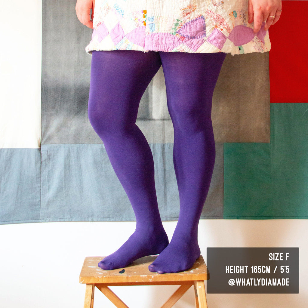 Tights - Opaque Tights - Suffragette Purple