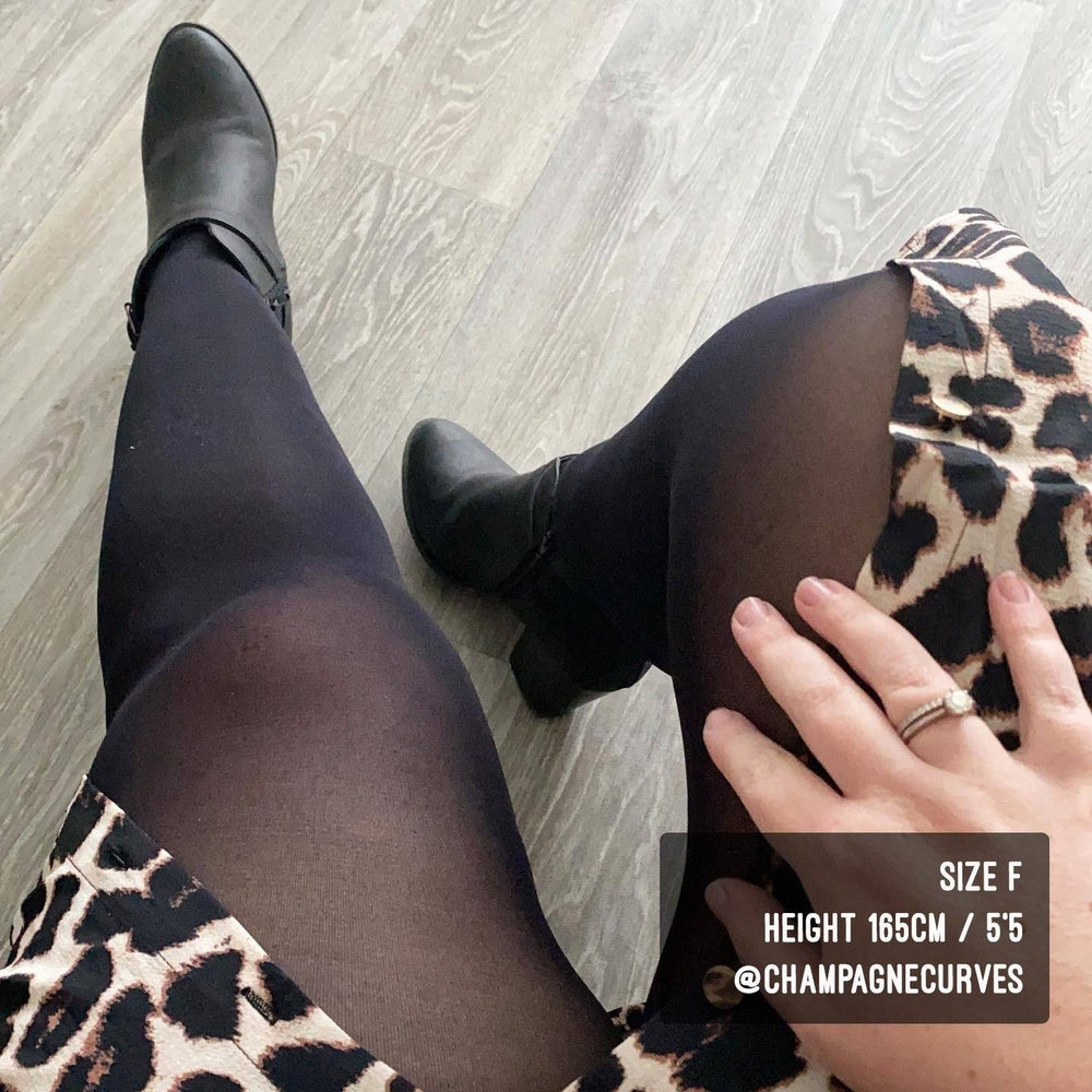 Tights - Semi-Opaque Tights - Black