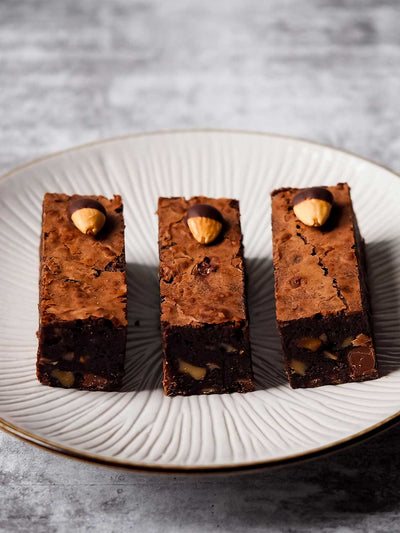 Bad Boy Brownie 100% Gluten Free Dessert Bar Slices Chocolate Chunk Roasted Almonds Best Chocolate Brownie Melbourne Next Day Delivery Best Desserts Best Gluten Free Desserts Melbourne