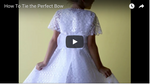 How to Tie the Perfect Bow for a Dress