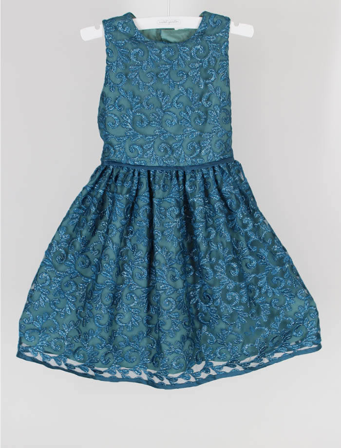 Aqua Sparkle 4-6x Girls Dress