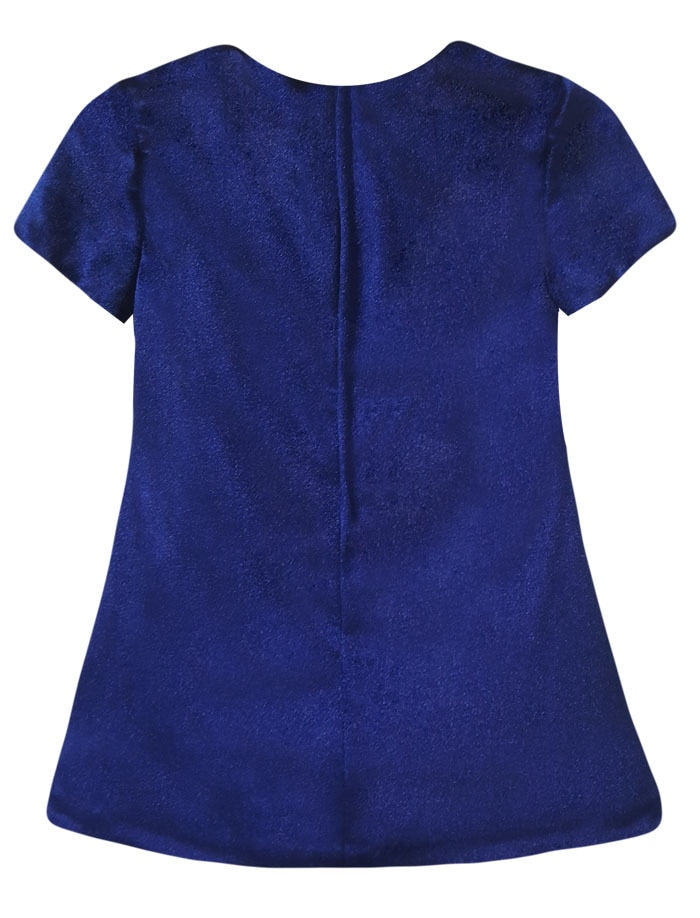 Cap Sleeve Velvet Girls Shift