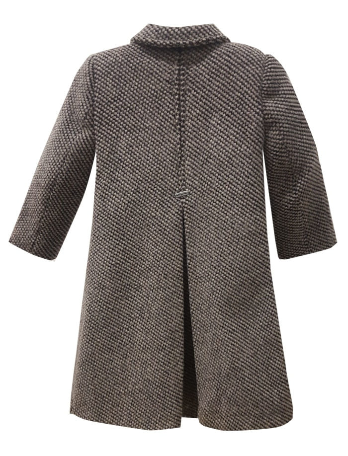 Oslo Woolen Houndstooth Girls Coat