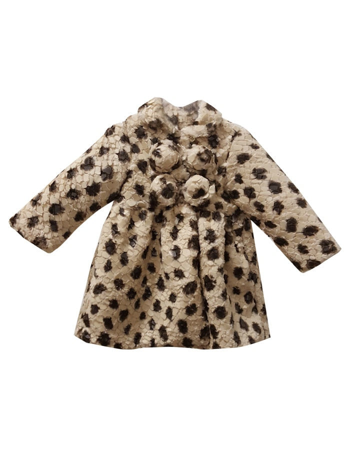 Textured Faux Fur Toddler Coat & Bonnet
