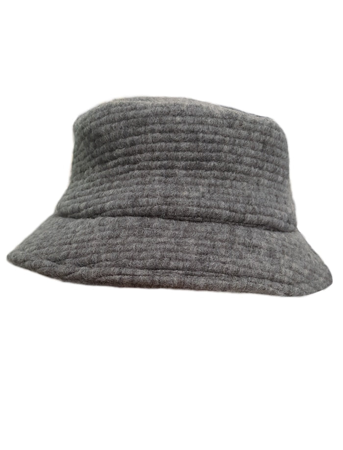 Girls Ribbed Woolen Bucket Hat