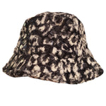 Girls Textured Faux Fur Bucket Hat