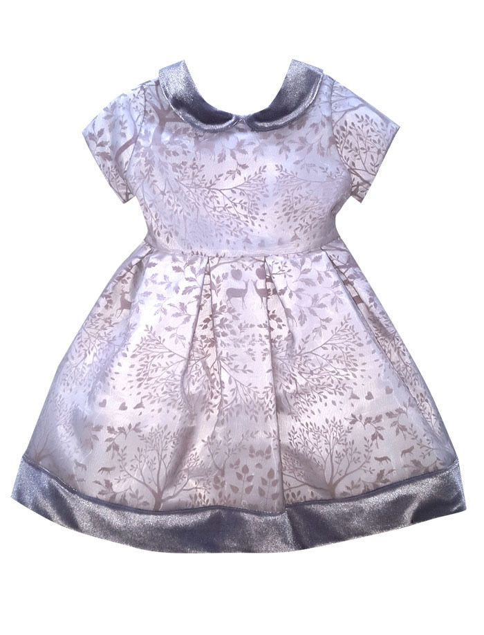 Winter Story Cap Sleeve Waisted Baby Holiday Party Dress