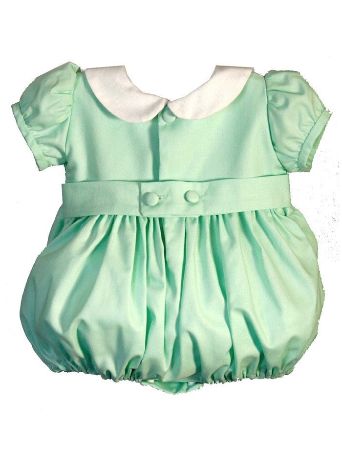 Hand Smocked Short Sleeve Bubble