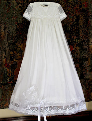 Blessing Christening Gown and Bonnet