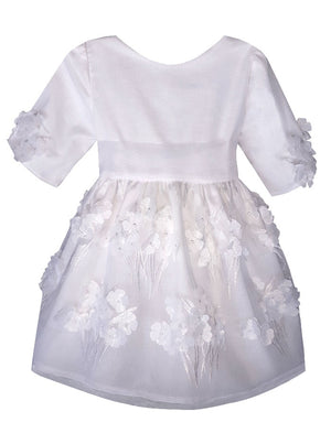 Bliss Hydrangea Baby Dress with Half Sleeve
