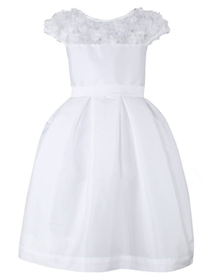 Bouquet of Roses Girls Dress Mid-Calf Length