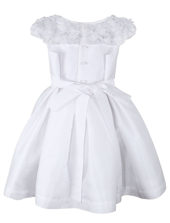 Bouquet of Roses Girls Dress Below Knee Length