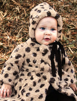 Textured Faux Fur Baby Coat & Bonnet