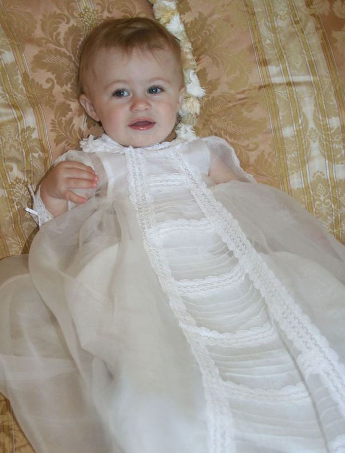 Caress Christening Gown & Bonnet