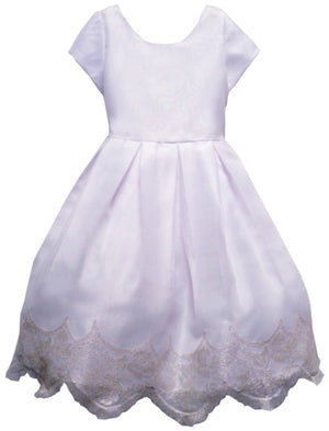 Chantilly Girls Dress with Cap Sleeves