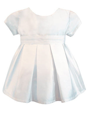 Chic Baby Dress with Pleated Sash