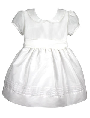 Elegant Girls Dress Below Knee Length with Short Sleeves