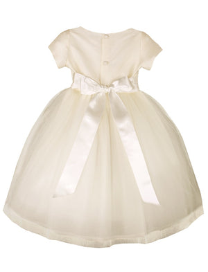 Cap Sleeve Enchanting Tulle Skirt Girls Dress