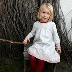 Long Sleeve Rosebud Knit Girls Dress