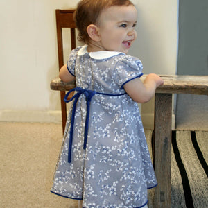 Short Sleeve Snowflake Floral Baby Dress