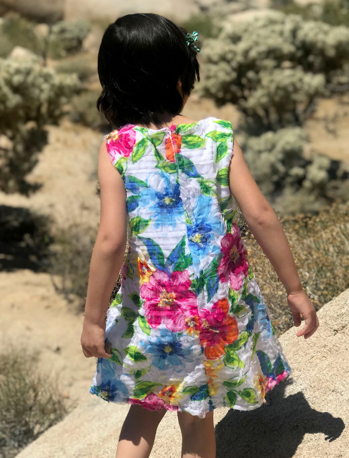 Bright Floral Girls Sundress