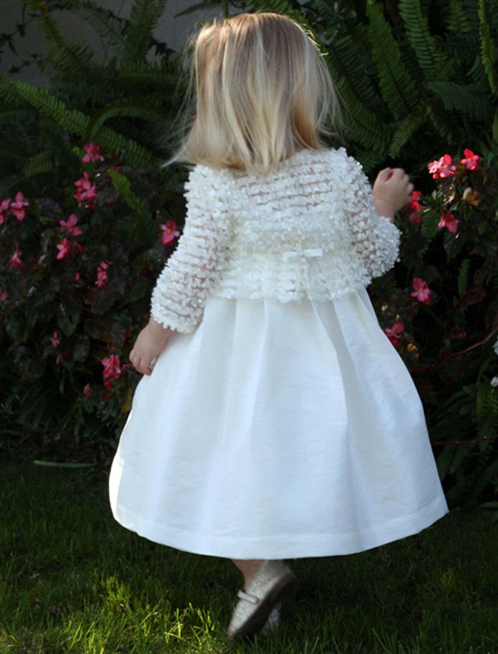 Flutter Two in One Girls Dress with 3/4 Sleeves