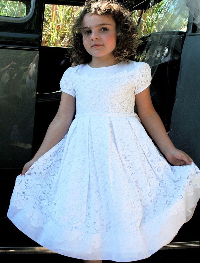 Gala Cotton Lace Plus Size Girls Dress