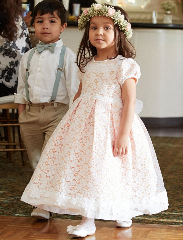 Gala Cotton Lace Girls Dress