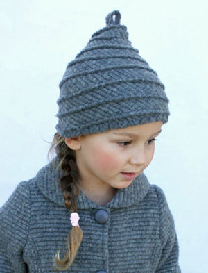 Milan Girls Fluted Swirl Hat