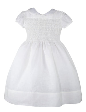 Heirloom Hand Smocked Floor Length Girls Dress