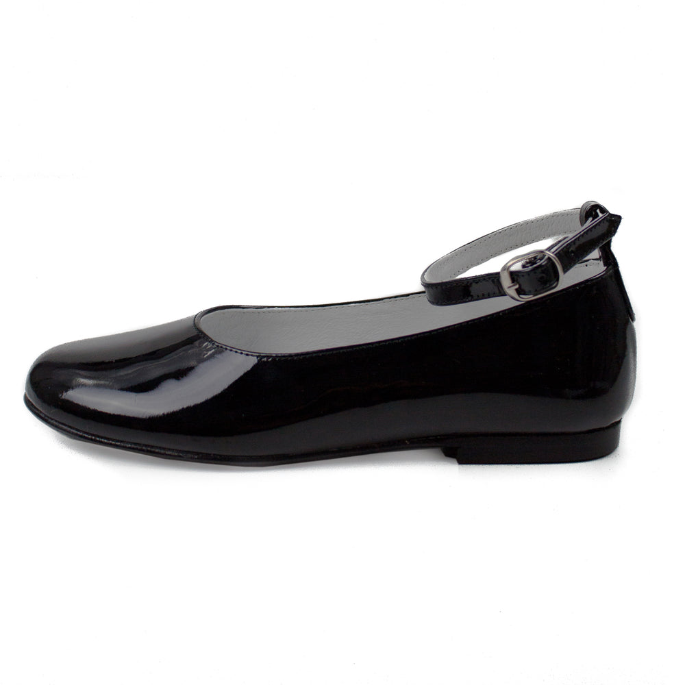 Two Way Girls Party Shoe in Black Patent Leather