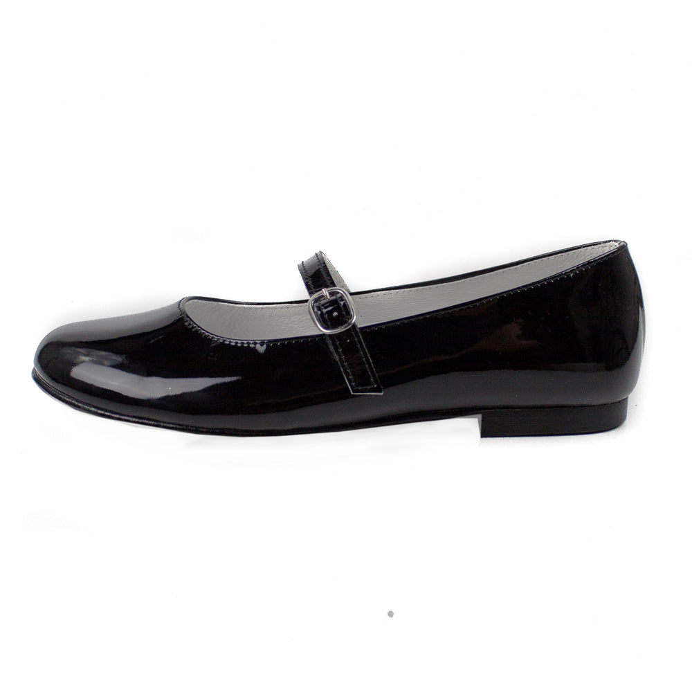 Girls Mary Jane Party Shoe in Black Patent Leather