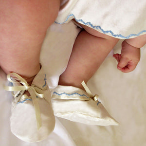 Joseph Embroidered Baby Booties