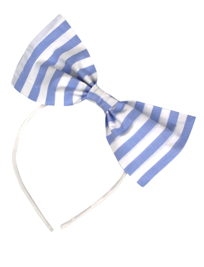Wide Stripe Girls Big Bow Headband