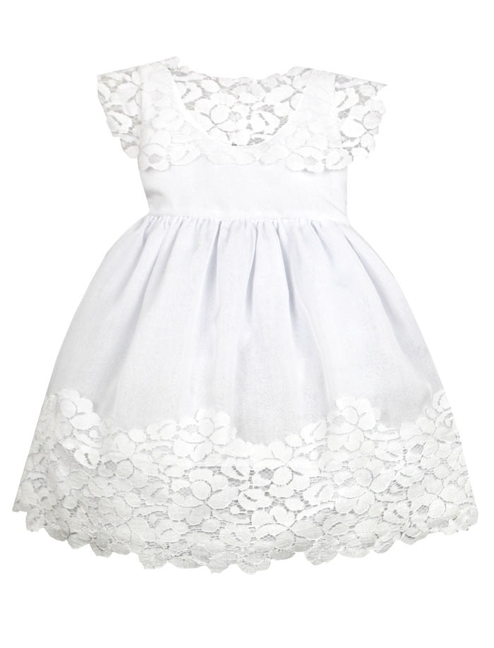 Vintage Cotton Lace and Chiffon Baby Dress