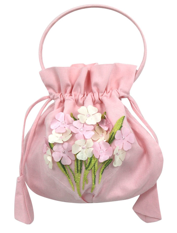 Handbag in Cotton with Hydrangeas