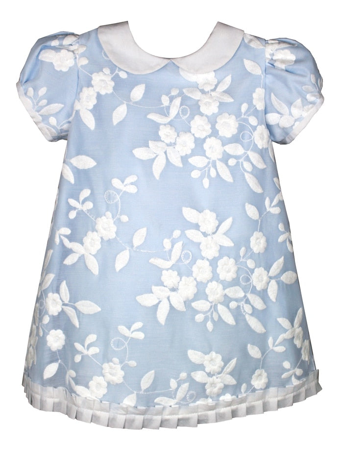 Embroidered Organza Floral Baby Dress