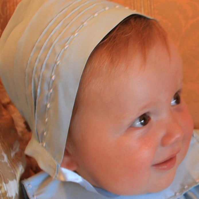 Charming Hand Embroidered Baby Bonnet in Taffeta