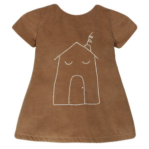Cap Sleeve Sleeping House Girls Dress