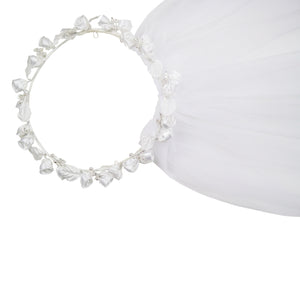 Roses Halo Girls Double Veil